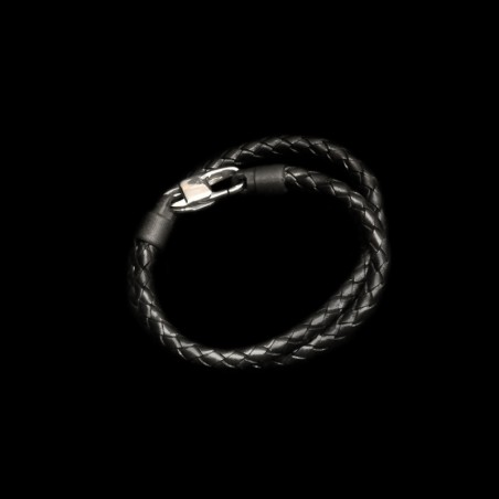 Leather / carbon bracelet